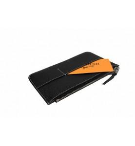 Кошелек - клатч, кожаный, коричневый HERMES 536-3
