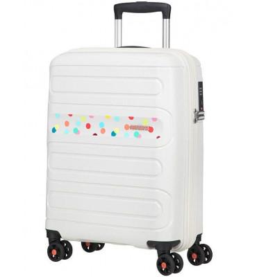 Валіза від American Touristet SUNSIDE(лімітована колекція) , білий,принт горошок/Polka Dot, 40×55×20см , 35л