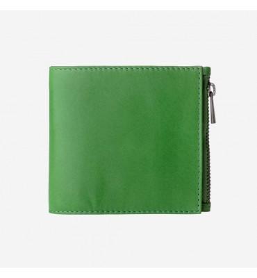Женский кожаный кошелек DUDUBAGS Zip-it - Design by ZAVEN / размер 11x9,6x2 см / цвет зеленый
