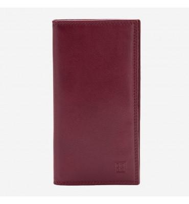 Женский кожаный тонкий кошелек DUDUBAGS Colorful (Италия) / размер 17,6x9,3x1 см / цвет бордо