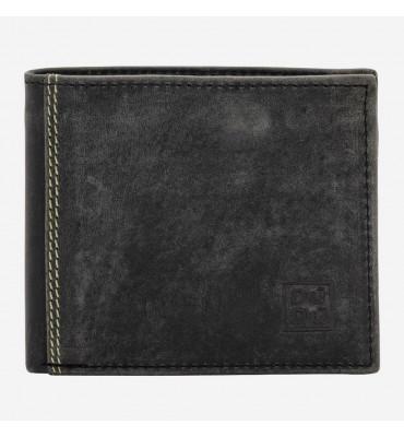 Мужской кожаный кошелек Dudubags Vintage (Италия) / размер 10,5x9 x2,6 см / цвет графит