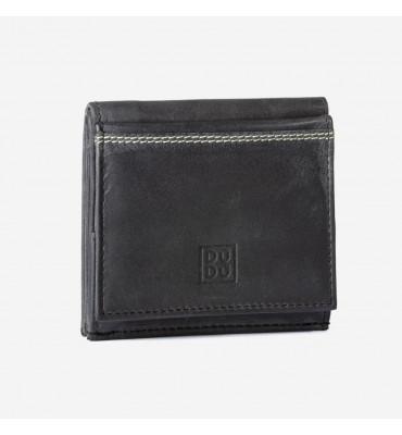 Мужской кожаный кошелек Dudubags Vintage (Италия) / размер 10x9x2,8 см / цвет графит