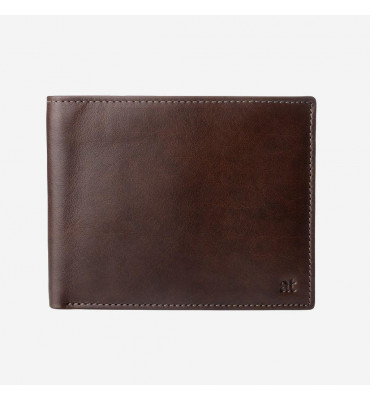 Мужское портмоне Antica Toscana Dudubags / размер 12,5x9,7x1,5 см / цвет коричневый