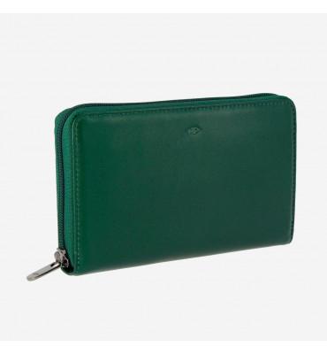 Женский кошелек из натуральной кожи Nappa DUDUBAGS (Италия) / размер 19,5 x 11 x 2,5 см