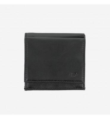 Небольшое мужское портмоне с монетницей Nappa Dudubags / размер 9,2x9,9x2,6 см / цвет черный