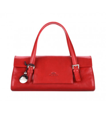 Женская кожаная сумка багет Venus от бренда Wittchen / размер 14.5-34-8см / цвет красный