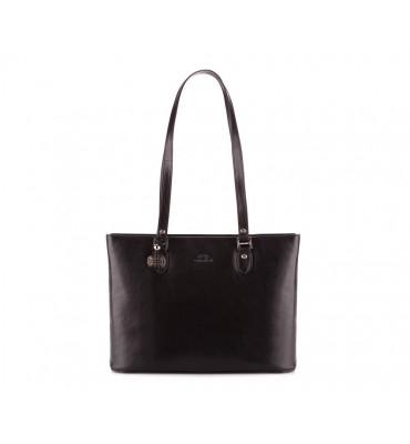 Женская кожаная сумка Venus от бренда Wittchen / размер 27-37.5-9см / цвет черный