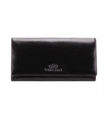 Женский кошелек из натуральной кожи от бренда Wittchen Italy / цвет черный / размер 10-18.5-2 см