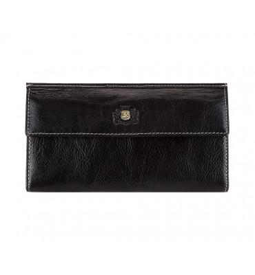 Женский кошелек из натуральной кожи от бренда Wittchen Roma / цвет черный / размер 11-19-2 см