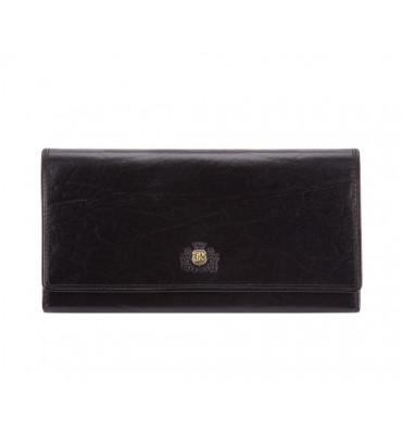Женский кошелек из натуральной кожи Wittchen Da Vinci / размер 10-19-2 см / цвет черный