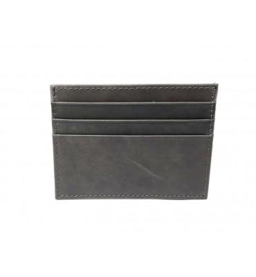 Картхолдер натуральная кожа 0695-9 7.5х10х0.5 серый