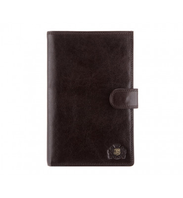 Мужской кожаный кошелек от бренда Wittchen Da Vinci / размер 17.5-11.5-2 см / цвет коричневый