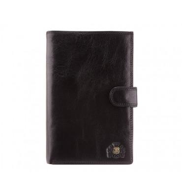Мужской кожаный кошелек от бренда Wittchen Da Vinci / размер 17.5-11.5-2 см / цвет черный