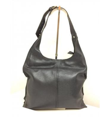 Женская кожаная сумка Vera Pelle (Италия) / размер 33-30-13 см / цвет черный