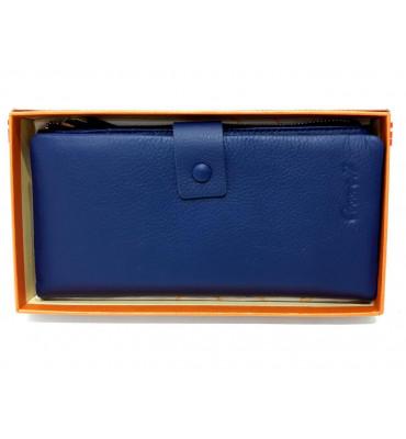 Кошелек женский натуральная кожа Cossroll А164E-1716-7 10х19х1.5 синий