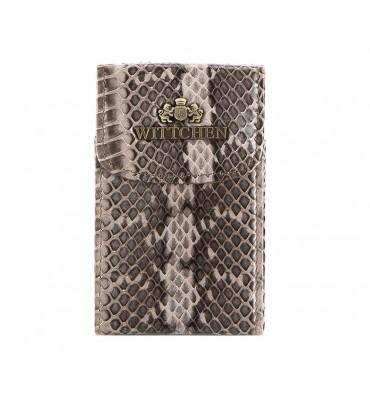 Визитница для собственных визиток от бренда Wittchen (Польша) Snake, размер 10.5-6.5-1.5 см