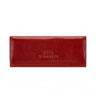 Ключница из натуральной кожи от бренда Wittchen Italy, размер 13.5-6-1 см, цвет красный