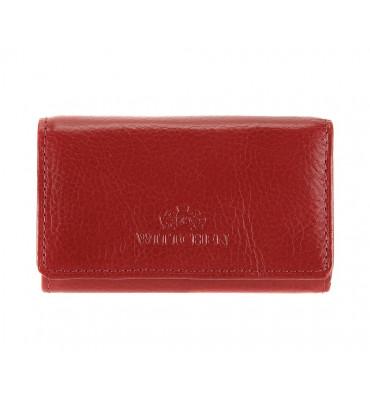 Ключница из натуральной кожи с отделением для купюр от бренда Wittchen Italy, размер 9.5-5.5-1.5см