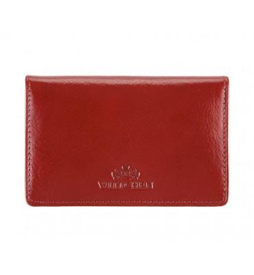 Визитница из натуральной кожи от бренда Wittchen Italy, размер 11.5-7.5-1.5 см, цвет красный