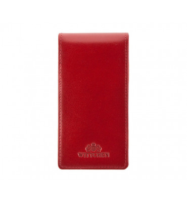 Кредитница-Картхолдер из натуральной кожи от бренда Wittchen Italy, 13.5-6.5 см, цвет красный