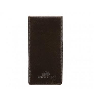 Кредитница-Картхолдер из натуральной кожи от бренда Wittchen Italy, 13.5-6.5 см, цвет коричневый
