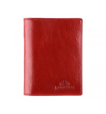 Кожаная обложка для документов от бренда Wittchen Italy, размер 12.5-9.5 см, цвет красный