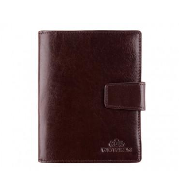 Кожаная обложка для документов от бренда Wittchen Italy, размер 14-11-2 см, цвет коричневый
