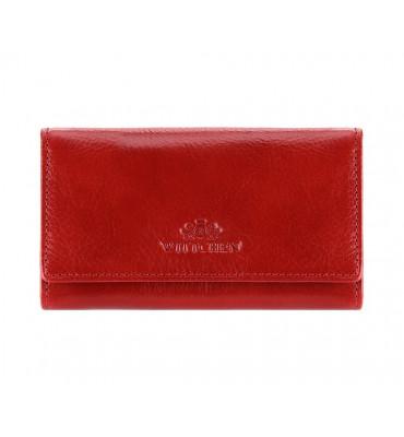 Ключница из натуральной кожи от бренда Wittchen Italy, размер 13-7-1.5 см, цвет красный