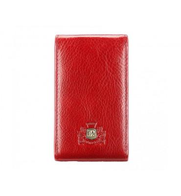 Визитница из натуральной кожи от бренда Wittchen Roma, размер 11-7-1 см, цвет красный