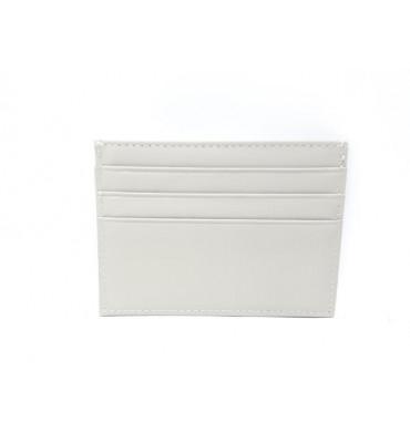 Картхолдер шкіряний, білого кольору / кожаный картхолдер белого цвета / 0695-09