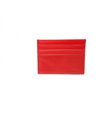 Картхолдер шкіряний, червоного кольору / кожаный картхолдер красного цвета / 0695-7