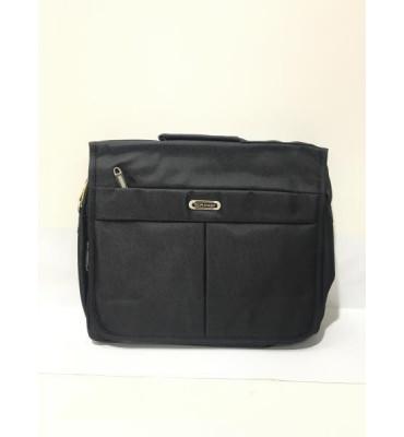 Сумка для ноутбука, выполнена из качественного текстиля, черного цвета от GORANGD / 30см * 35см * 10см