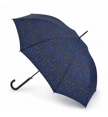 Женский зонт - трость Fulton, полуавтомат, диаметр купола 94 см, гарантия 1 год.