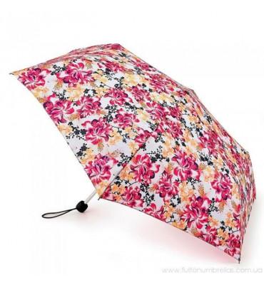 Женский мини зонт Fulton Superslim, принт -в цветы, диаметр купола 86 см, вес 158 г, гарантия 1 год.