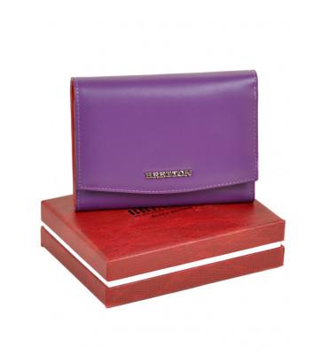 Кошелек женский натуральная кожа BRETTON W5458-8 14*10.5 *2.5 фиолетовый