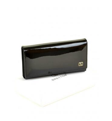 Кошелек женский натуральная кожа BRETTON BR GOLD W46-1 9.5х18.5х4 черный