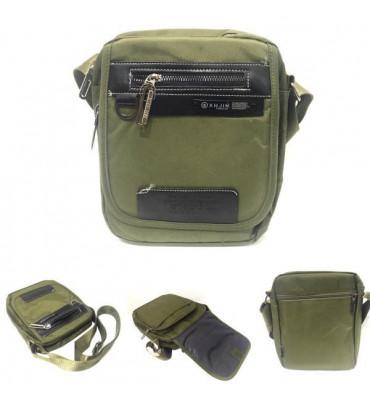 Чоловіча сумка / текстиль , колір оливковий , 23см-18см-10см