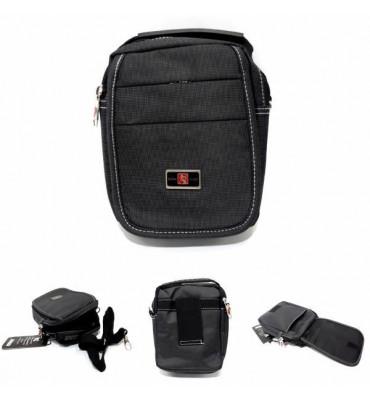 Чоловіча сумка Gorangd / текстиль , колір сірий , 19см-14см-7см