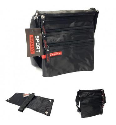 Чоловіча сумка Sport/ текстиль / 24*19*1,5см / колір чорний
