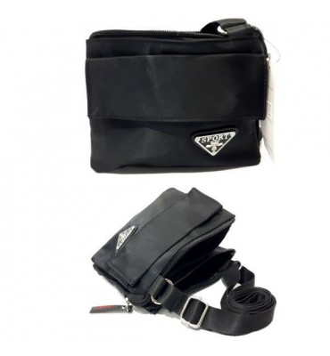 Чоловіча сумка Sport / 15*19*5см / поліестер , колір чорний
