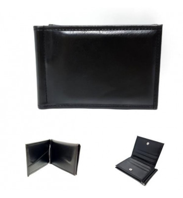 Зажим для купюр эко-кожа 1004-1 7.5х11.5х2 черный
