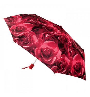 Женский зонт- автомат Fulton Photo Rose Red (розы), диаметр купола 97 см, гарантия 1 год