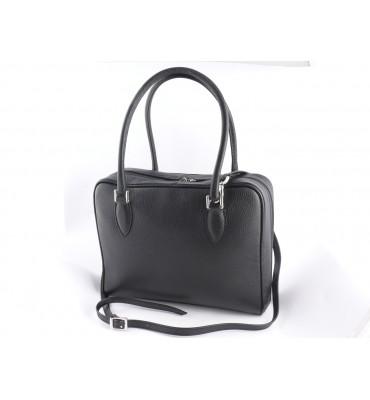 Женская кожаная сумка от бренда DUDUBAGS (Италия) / размер 32x25x10см / цвет черный