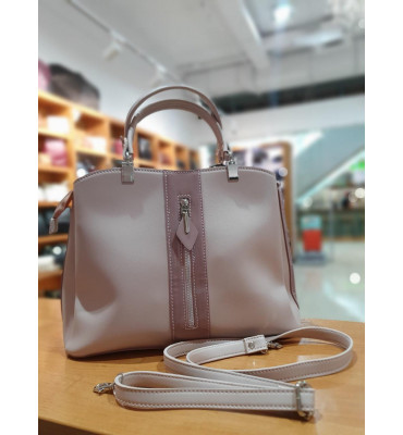 Женская сумка делового формата А4 с качественной экокожи, 33 x 25 x 14 см, цвет пудра
