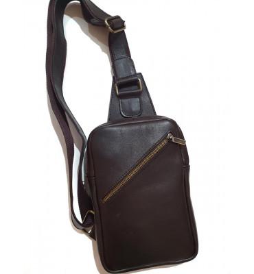 Мужской монорюкзак из натуральной кожи ТМ ArtMar (Украина), 16-24-3.5, цвет коричневый