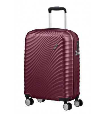 Валіза від  American Tourister JETGLAM бордо металік, полікарбонат , 40×55×20см , 35.5 л , 2.5 кг