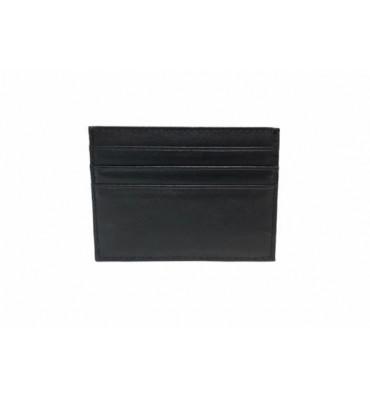 Картхолдер натуральная кожа 0695-1 7.5х10х0.5 черный