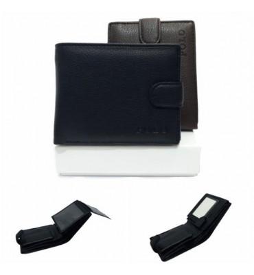 Мужской кошелек Polo / экокожа / размер 10-12.5-1.5 см / код 538