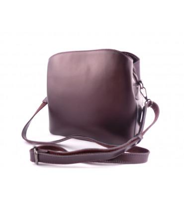Женская кожаная сумка Solana / размер  24-25-10 см / цвет баклажан