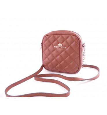 Женская кожаная сумка Wittchen (Польша) / размер 16-16-5 см / цвет коричневый